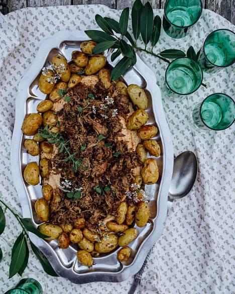 Ohjeesta voi myös kokeilla ainoastaan perunareseptin ja hummuksen.