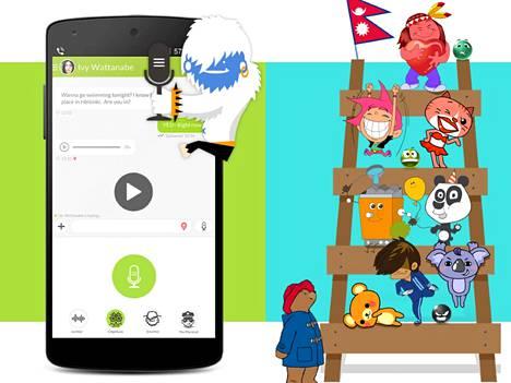 Jongla vetoaa erityisesti nuoriin käyttäjiin viesteihin liitettävillä kuvilla – ja nyt myös äänisuodattimilla.