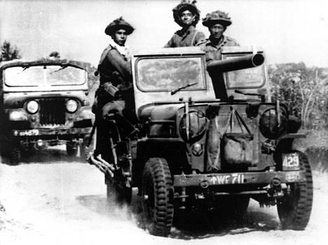 Intialaisia gurkha-joukkoja kuvattuna 1971.