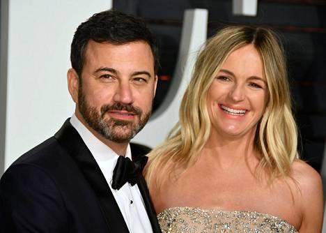 Jimmy ja Molly yhdessä Vanity Fairin Oscar-juhlissa helmikuussa.
