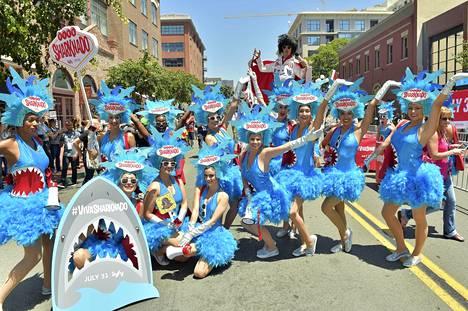 Sharknado 4 -elokuvaa mainostettiin näyttävästi Comic Conissa.