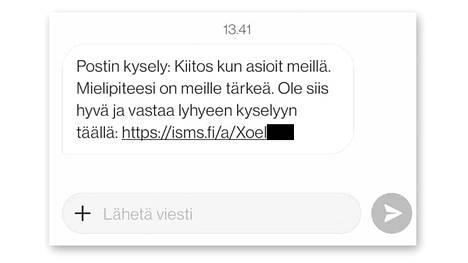 Postin kyselyssä oleva linkki ei liene monellekaan tuttu. Kyse on Postin yhteistyökumppanin sivusta.
