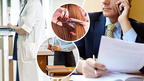 Mitä tienaavat lääkärit, toimitusjohtajat tai opettajat ja kampaajat?