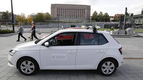 Näyttää viattomalta pikkuautolta, mutta katolle sijoitetut kamerat tekevät tästä Škodasta poikkeuksellisen.