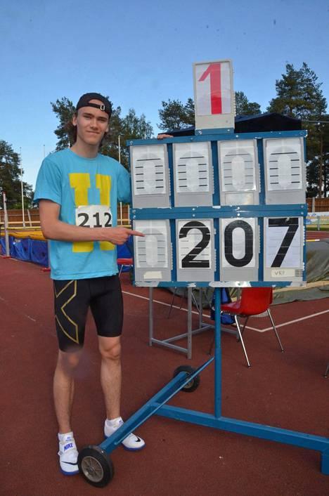 Arttu Mattilan ennätys on nyt 207 – toistaiseksi.