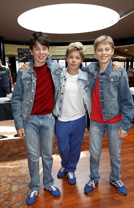 Amos Brotherus, 14, Henrik Björklund, 13, ja Lassi Hirvonen, 12 ovat yksi ja sama Billy Elliot.