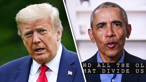 Obama esitti napakkaa arvostelua Trumpia kohtaan videolla lauantaina mainitsematta kuitenkaan suoraan Trumpia nimeltä. Sunnuntaina Trump vastasi toimittajille saavuttuaan Valkoiseen taloon viikonlopun vietosta.