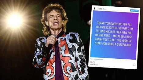 """Mick Jaggerin viesti sydänläppäleikkauksen jälkeen: """"Olen toipumassa"""" – onko edessä kiertue vai pitkä sairausloma?"""