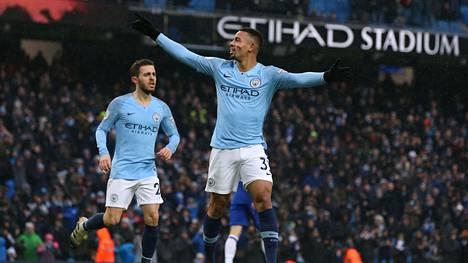 Manchester City palasi kärkeen Valioliigassa – Gabriel Jesus iski kahdesti
