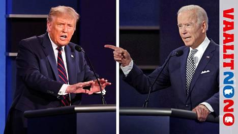 Presidentti Donald Trumpin taktiikka ensimmäisessä tv-väittelyssä oli aggressiivinen. Joe Biden säilytti malttinsa, vaikka äityi myös sättimään vastaehdokastaan.