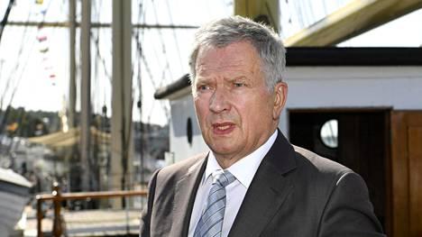 Presidentti Sauli Niinistö vieraili Ahvenanmaalla 13. elokuuta.