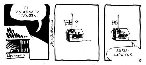 Aapo Kukan sarjakuva Lippukoppi on nähty IS:n marraskuun kuukauden kotimaisena