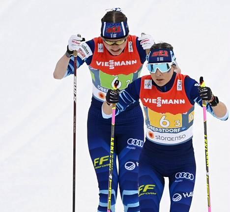 Johanna Matintalo (vas.) lähetti Riitta-Liisa Roposen takaa-ajoon.