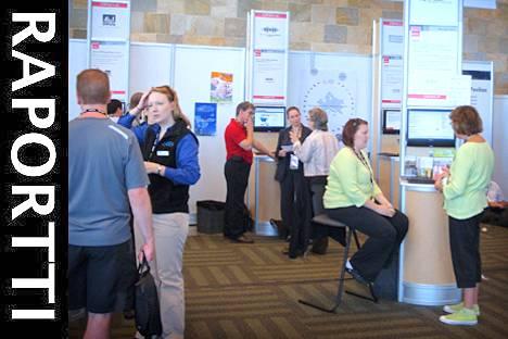 Käyttäjäyhdistysten näyttelyaluetta syyskuun Oracle Open Worldissa San Franciscossa.