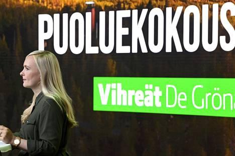 Vihreiden puheenjohtaja, sisäministeri Maria Ohisalo jää äitiysvapaalle marraskuun paikkeilla.