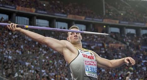 Kuluvan kauden maailmantilaston ykkönen (92,70) Johannes Vetter sijoittui lopulta EM-keihäsfinaalissa viidenneksi.