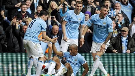 Manchester City voitti mestaruuden.