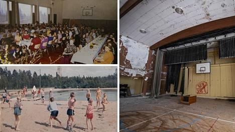Lampinsaareen kasvoi Euroopan suurimman sinkkikaivoksen myötä parhaimmillaan noin 1 200 asukkaan kylä. Kylässä juoksenteli enimmillään 540 lasta. Heitä varten kylälle rakennettiin koulu.