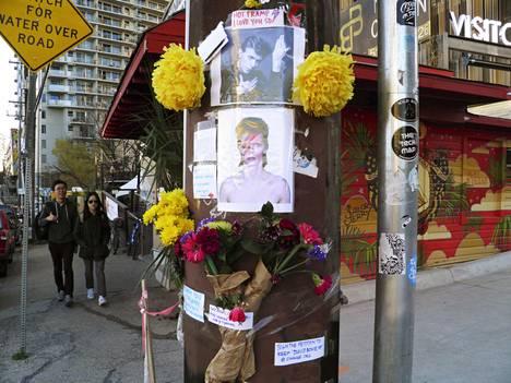 David Bowien kunniaksi perustettu muistopaikka.