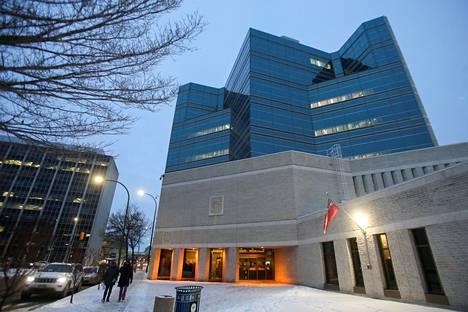 Tässä vankilassa Winnipegissä Nygårdia pidetään.