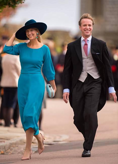 Lady Gabriella Windsor ja Thomas Kingston osallistuivat lokakuussa prinsessa Eugenien vihkitilaisuuteen Pyhän Yrjön kappelissa.