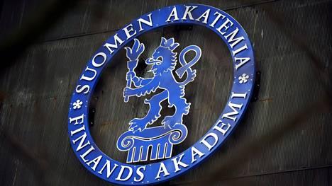 Suomen Akatemian logo Kalliossa Helsingissä vuonna 2009.