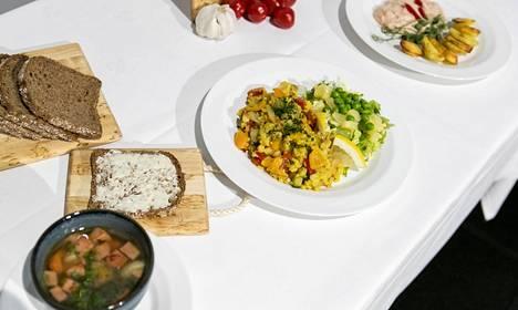 Kilpailussa tehtiin kolme ruokalajia.
