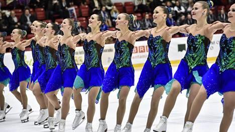 Marigold IceUnity voitti MM-kultaa. Arkistokuva SM-kisoista maaliskuun alusta.