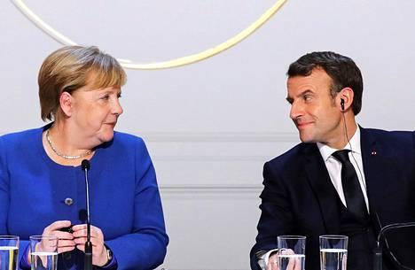 Saksan liittokanslerilla Angela Merkelillä ja Ranskan presidentillä Emmanuel Macronilla on paljon vaikutusvaltaa Euroopassa.
