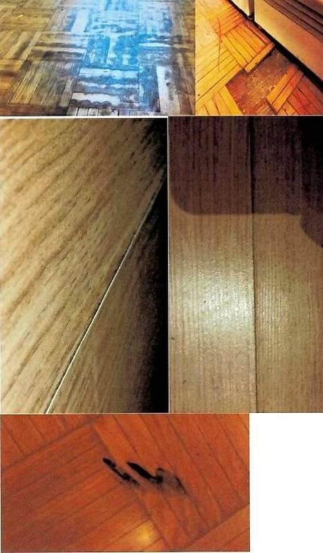 Asunnossa on edessä parketin vaihto, hiominen ei olisi ratkaisu lattian kunnostamiseksi.