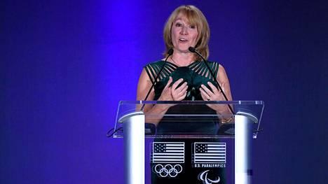 Susanne Lyons muistutti, että Tokion olympialaisia ei järjestetä ensi tai seuraavalla viikolla. Arkistokuva.