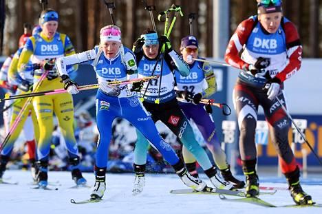 Kaisa Mäkäräinen sai lopettaa uransa kotistadionillaan. Lauantainen Kontiolahden takaa-ajokisa jäi uran viimeiseksi.