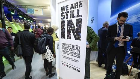 Kansainvälisen ilmastopaneelin IPCC:n kokoukseen osallistuvia Puolan Katowicessa.