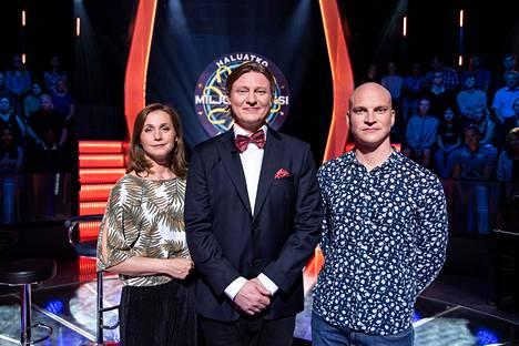 Haluatko miljonääriksi? -kisassa kilpailevat lauantain jaksossa Leena Pöysti ja Riku Nieminen.
