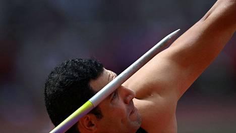Egyptin Ihab Abdelrahmanin pitkä dopingpanna on kärsitty, mutta vielä Tokion keihäskarsinnassa keppi ei lentänyt miehen toivomalla tavalla.