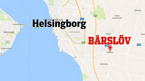 Helsingborgista löytyi palava ruumis.