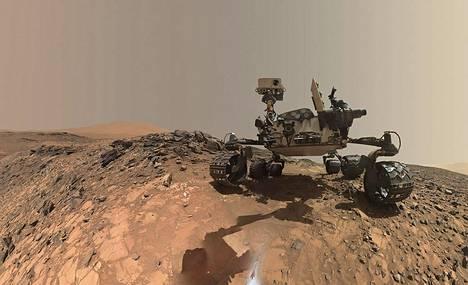 Curiosity-mönkijä laskeutui Marsiin vuonna 2012.