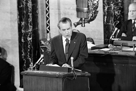 Presidentti Richard Nixon vuonna 1974.