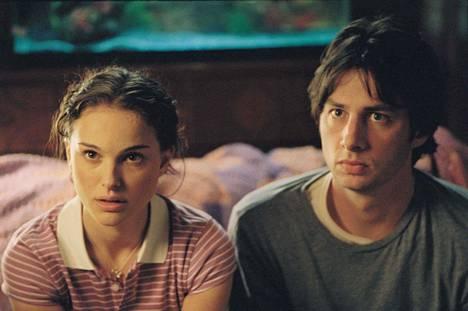 Zach Braff (Andrew Largeman) ja Natalie Portman (Sam).