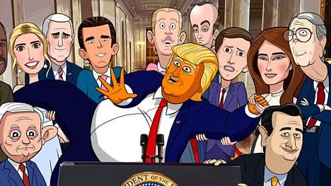 Our Cartoon President -parodiasarja kuvaa Valkoisen talon sekavaa arkea.