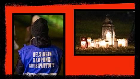 Helsingin kaupungin kriisipäivystys oli paikalla, kun kymmenet ihmiset kävivät hiljentymässä Käpylässä järjestetyssä tilaisuudessa joulukuussa.