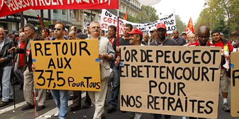 Ranskassa on viime viikkoina järjestetty laajoja mielenosoituksia hallituksen kaavailemaa eläkeiän nostoa vastaan.