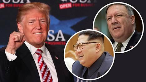 Donald Trump intoili keskiviikkona Twitterissä Yhdysvaltain keskustiedustelupalvelu CIA:n johtajan, ulkoministeriehdokas Mike Pompeon ja Pohjois-Korean johtajan Kim Jong-unin tapaamisesta.