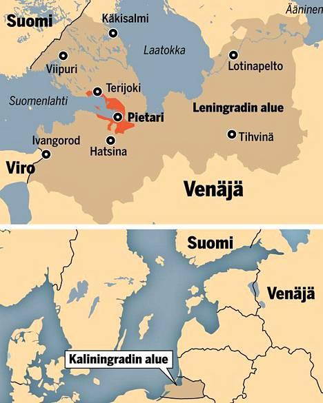 Leningradin alueeseen kuuluu monia suomalaisille kiinnostavia kohteita.
