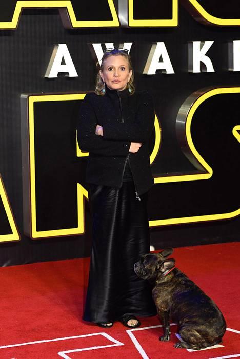 Carrie Fisher tunnettiin roolistaan prinsessa Leiana Tähtien sota -elokuvissa.