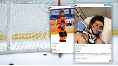 Mats Hildisch loukkaantui vakavasti, kun hän törmäsi päin maalitolppaa.