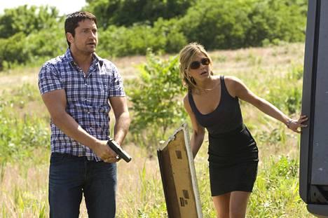 Gerard Butler ja Jennifer Aniston ovat Exän jäljillä.
