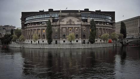 Ruotsin parlamentin talo Tukholmassa.
