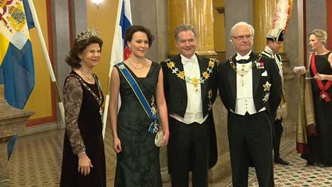 Dancing Queen on Silvian lempikappaleita. Sen saivat huomata myös Suomen presidenttipari Säätytalon illallisella.