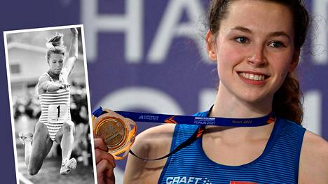 Ella Junnila voitti sunnuntaina korkeushypyn EM-pronssia. Junnilan äiti Ringa Ropo oli omalla urallaan huipputason pituushyppääjä.